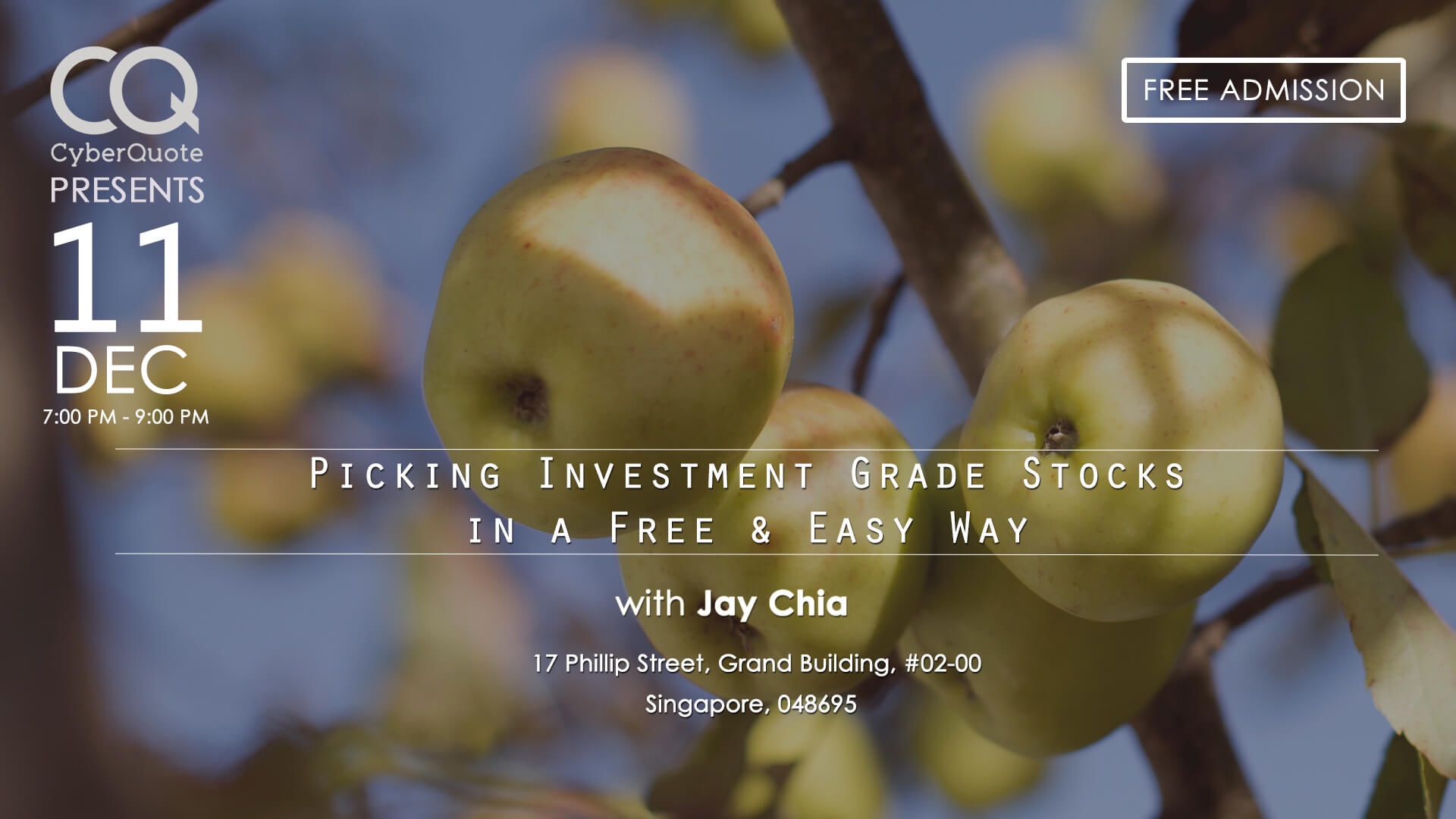 Free Seminars FB Event Cover MIW Picking Investment Grade Stocks In A Free And Easy Way 11 Dec