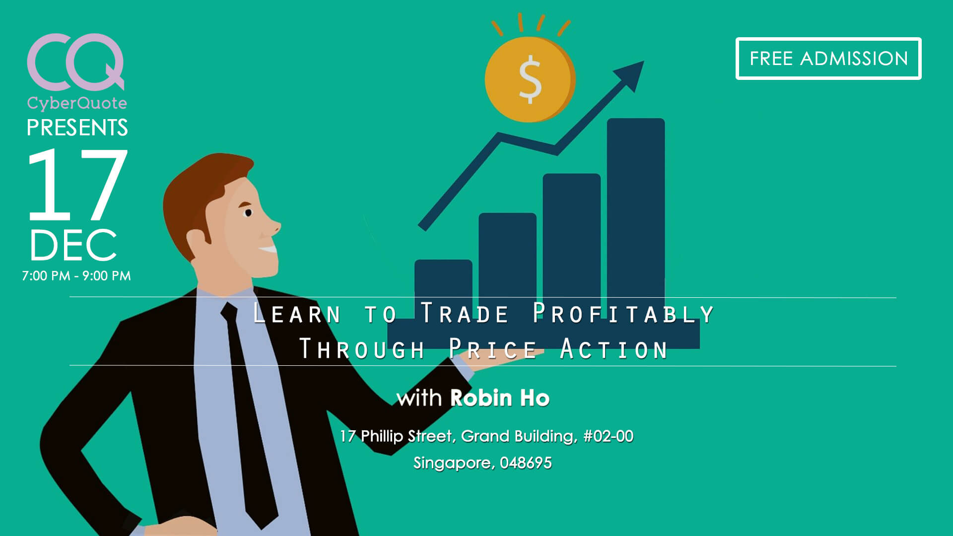 Free Seminars FB Event Cover MTM Learn to Trade Profitably Through Price Action 17 Dec