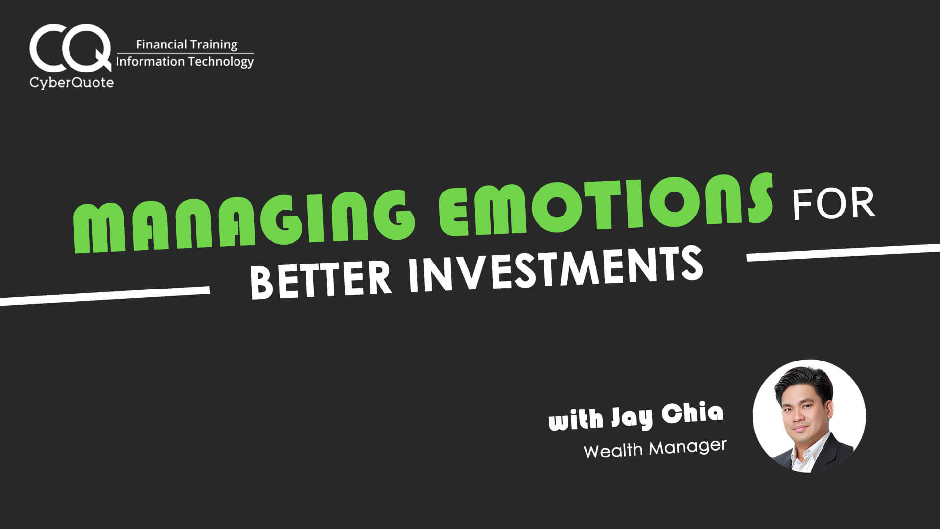 Managing Emotions for Better Investments Facebook Event Cover