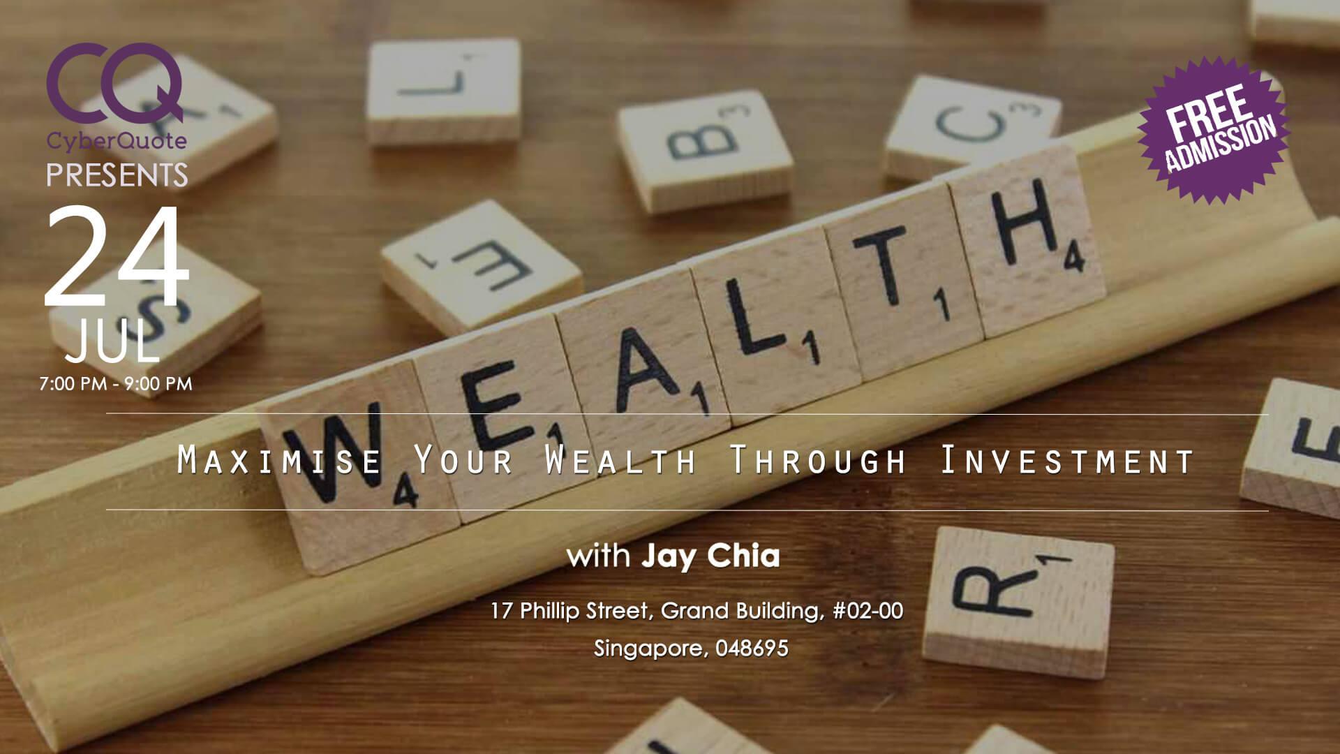 Free Seminars Eventbrite Cover MIW Maximise Your Wealth