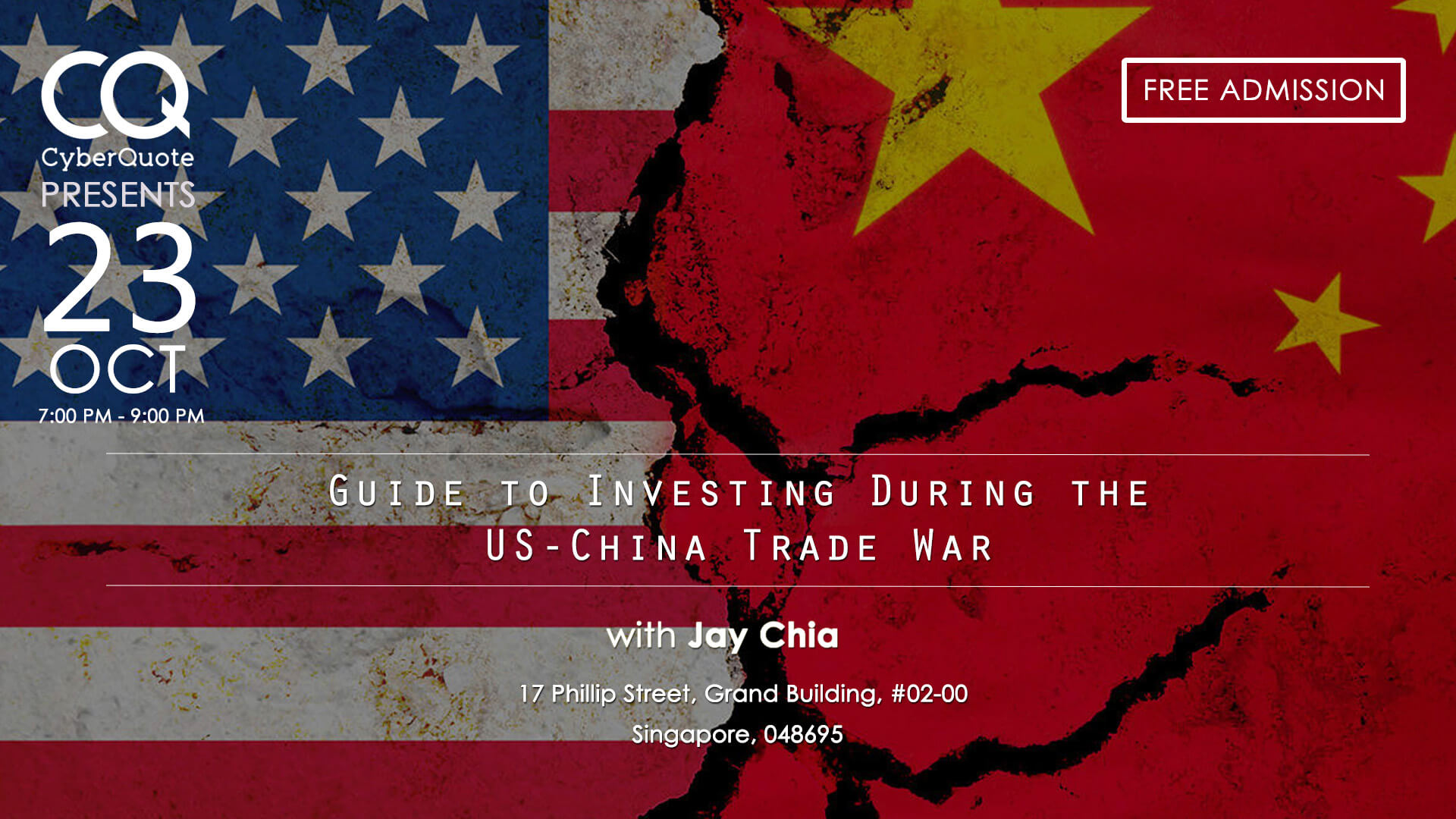 Free Seminars Eventbrite Cover MIW Guide to Investing During US China 23 Oct