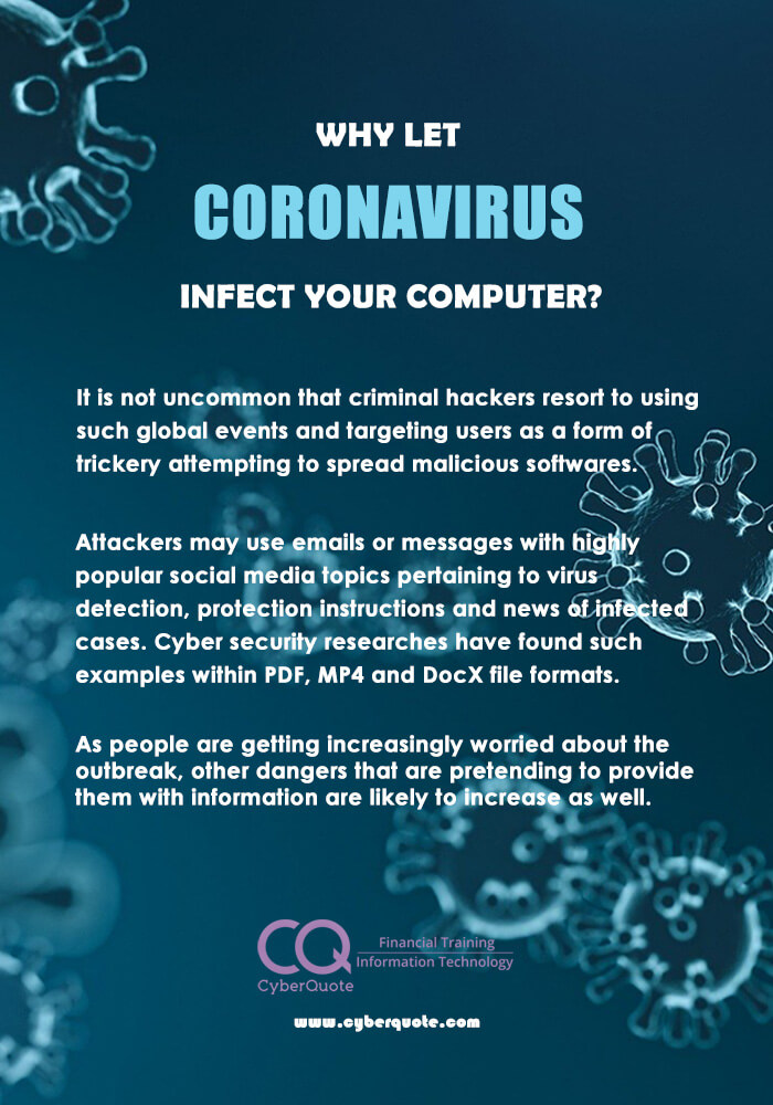 Why Let Coronavirus Infect Your Computer