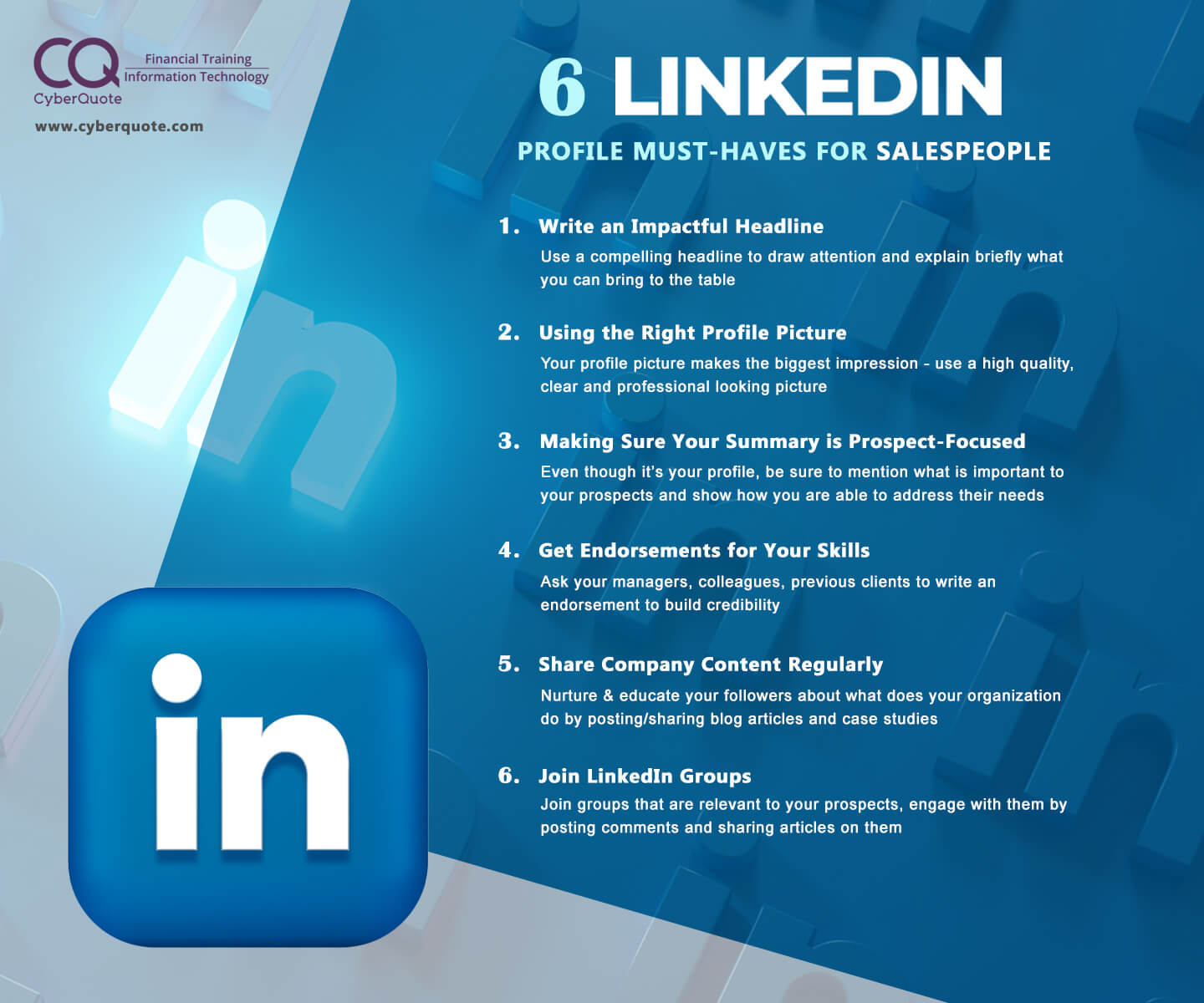 6 Linkedin Profile Must Haves for Salespeople